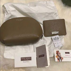 Henri Bender set cardholder cosmetic pouch bag